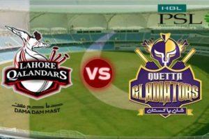 PSL4: Lahore Qalandars vs Quetta Gladiators