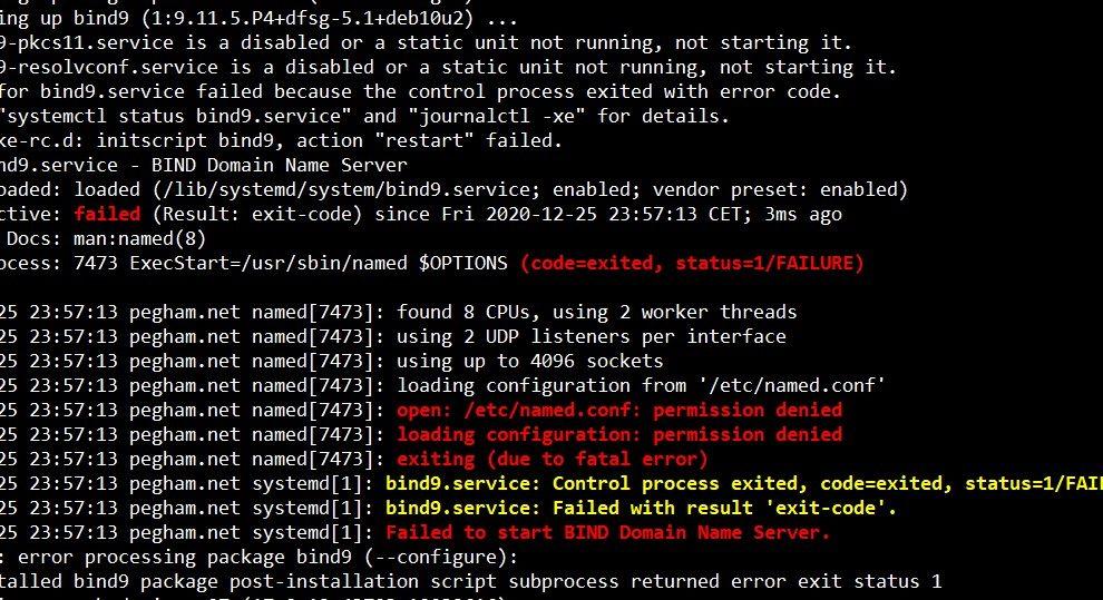 BIND Domain Name Server Error